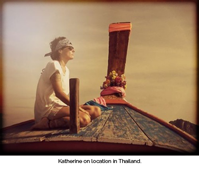 Kat Brooks on boat in Thailand